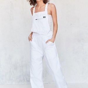 Dickies X urban outfitters white overalls